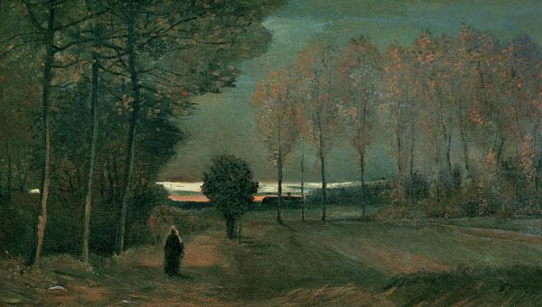 v.Gogh/Autumn landscape i.t.evening/1884