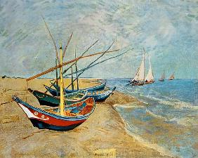 van Gogh, Vincent : Fishing Boats on the Beach...