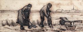 The Potato Harvest, from a Series of Four Drawings Symbolizing the Four Seasons (pencil, pen and bro