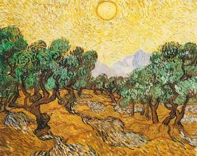 van Gogh, Vincent : Olive Trees with Yellow Sk...