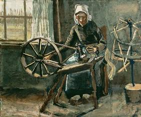 Peasant Woman Winding Bobbins