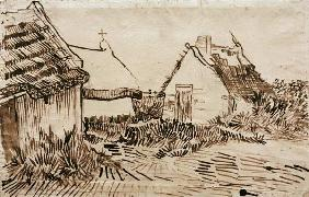 V.v.Gogh, Cottages, Saintes-Maries/Draw.