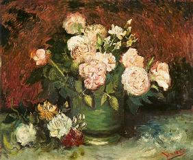 van Gogh, Vincent : Bowl with peonies and rose...