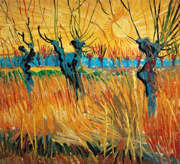 van Gogh, Vincent : Pollarded Willows and Sett...