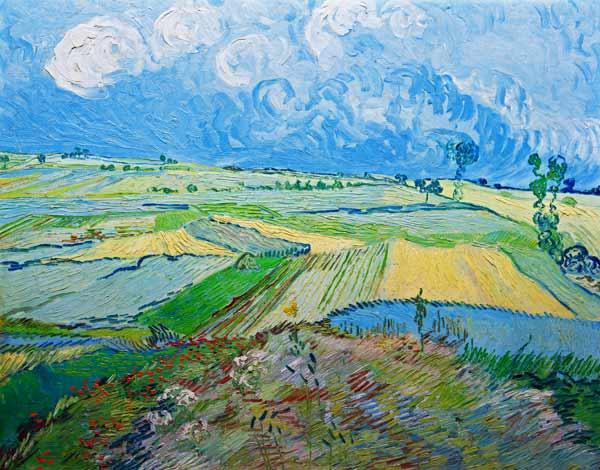 Van Gogh / Wheatfields in Auvers / 1890