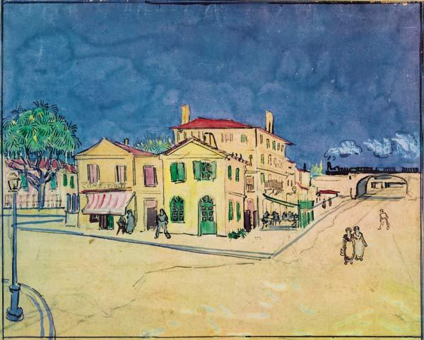 V.van Gogh, The Yellow House / Watercol.