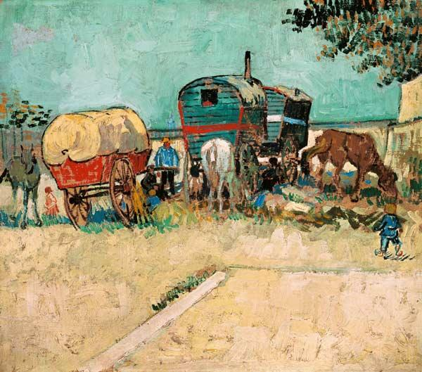 The Caravans, Gypsy Encampment near Arles 1888