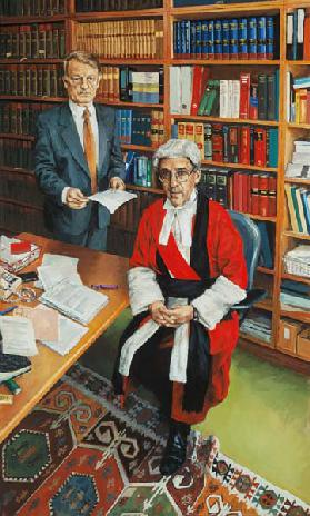 Mr Justice Moses with his Clerk John Furey