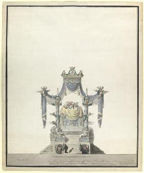 Catafalque for the Empress Catherine the Great (1729-1796)
