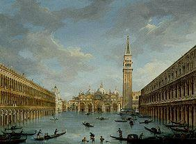 The Markusplatz in Venice at high water
