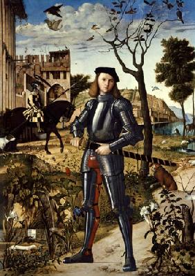 Knight being in a landscape.