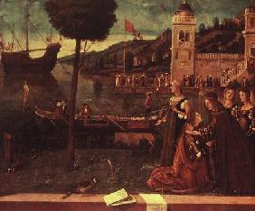 St.Ursula taking leave of her father