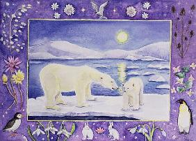 Polar Bear (month of January from a calendar)