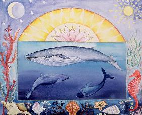 Whales (month of September from a calendar)