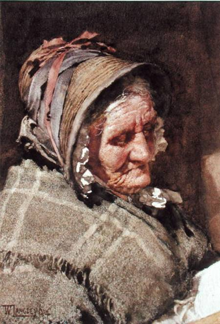 A Newlyn Fish Wife Walter Langley As Art Print Or Hand