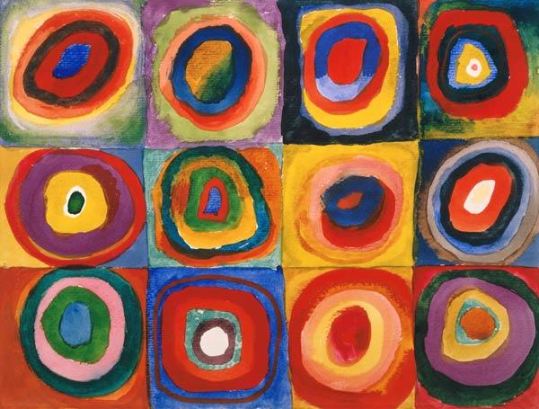 Color Study: Squares with Concentric Circles 1913