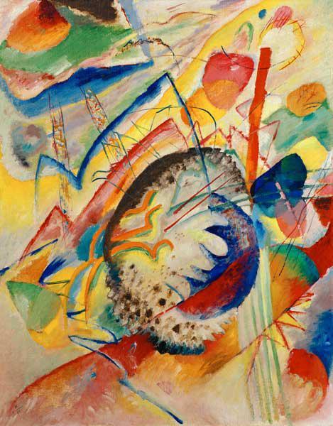 Poster Leinwandbild Glasbild Improvisation Klamm Wassily Kandinsky