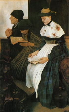 The three women in the church 1881