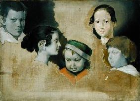 The five eldest children of the painter Julius Schnorr von Carolsfield (1794-1872)