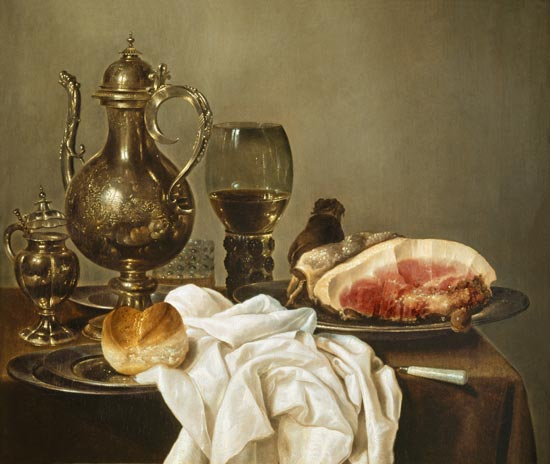 Breakfast Still Life Willem Claesz Heda As Art Print Or