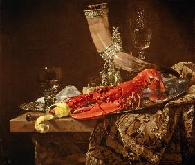 Still life with drinking horn of the Sebastiangilde