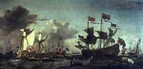 van de Velde d.J., Willem : Royal Visit to the Fleet