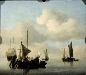 van de Velde d.J., Willem : Seascape in Calm Weather