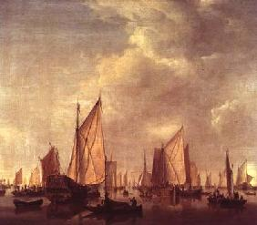 van de Velde d.J., Willem : Shipping in a calm