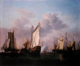 van de Velde d.J., Willem : A States yacht and other V...