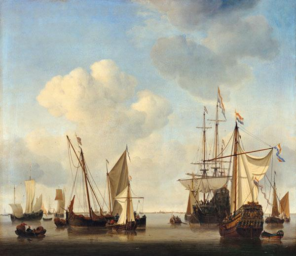 van de Velde d.J., Willem : Warships on the Y.