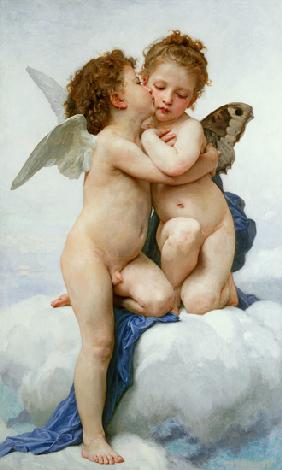 Bouguereau, William Adolphe : The First Kiss