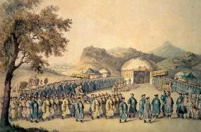 The Approach of the Emperor of China to his tent in Tartary to receive the British Ambassador, Georg