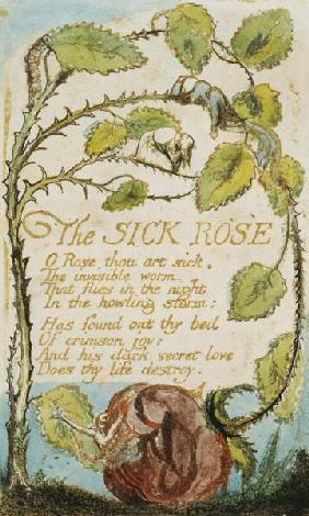 The Sick Rose, from Songs of Innocence