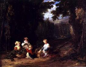 Young Children Picking Hops