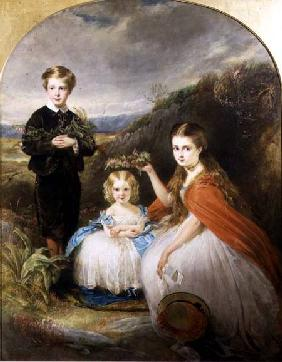 Portrait of the Middleton Children: Jessie Caroline (Colla) (b.1851) Alfred Harold (b.1857) and Alic