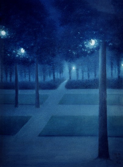 Discount Oil Change >> Nightly atmosphere in the Parc Royal in - William Degouve ...