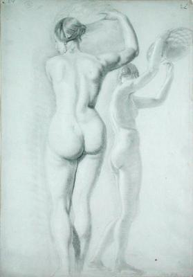 Figure studies (pencil on paper)