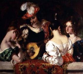"The Lute Player: ""When soft notes I the sweet lute inspired, fond fair ones listen'd and my skill ad"