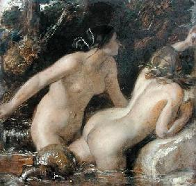 Nymphs with a Sea Monster