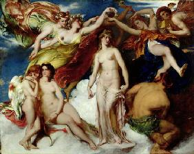 Pandora Crowned by the Seasons, 1824 (oil on canvas)