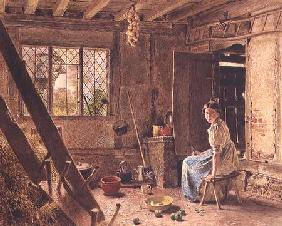 The Maid and the Magpie, A Cottage Interior at Shillington, Bedfordshire
