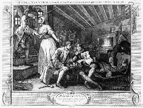 The Idle ''Prentice Betrayed by a Prostitute, plate IX of ''Industry and Idleness''