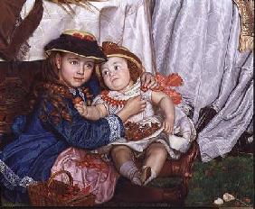 Lady Fairbairn with her Children, detail of Constance and James