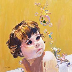 Bubble Bath (oil on board)