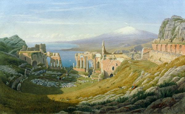 Taormina Sicily William J Ferguson As Art Print Or