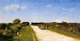 The way to Concarneau 1880
