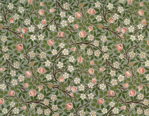 Small pink and white flower wallpaper de william morris as art shadowu mightylinksfo