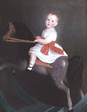 Master James Watts on a Rocking Horse