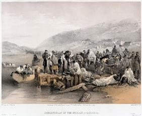 The Embarkation of the sick at Balaklava