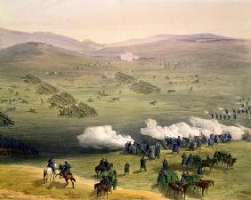 Charge of the Light Cavalry Brigade, October 25th 1854, detail of artillery, from 'The Seat of War i